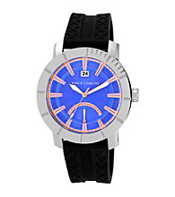 Vince Camuto™ Men's Blue Silver Silicon Strap Watch