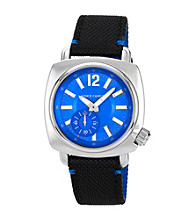 Vince Camuto™ Men's Blue Silvertone Nylon Strap Watch