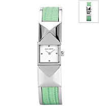 Vince Camuto™ Women's Mint/Silvertone Covered Bangle Bracelet Watch