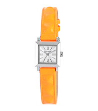 Vince Camuto™ Women's Orange Neon leather Strap Watch