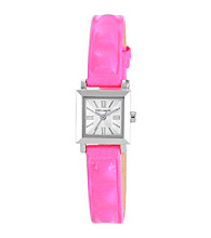 Vince Camuto™ Women's Pink Neon Leather Strap Watch