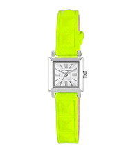 Vince Camuto™ Women's Yellow Neon Leather Strap Watch