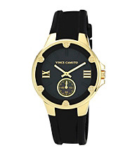Vince Camuto™ Women's Black Silicone Strap Watch