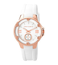 Vince Camuto™ Women's White Silicone Strap Watch
