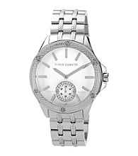 Vince Camuto™ Women's Silvertone Adjustable Bracelet Watch
