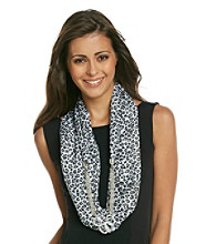Basha Grey Loop Jewelry Scarf