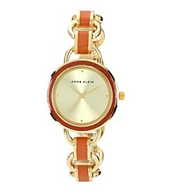 Anne Klein® Women's Goldtone Open Link Bracelet Watch