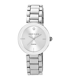 Anne Klein® Women's Silvertone Adjustable Bracelet Watch