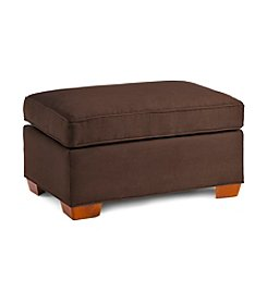 HM Richards Benson Chocolate Microfiber Ottoman
