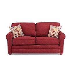 Lane® Sunburst Mulberry Full Sleeper Sofa with iRest Gel-Infused Foam Mattress