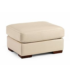 Natuzzi Editions® Trento Bone Leather Ottoman