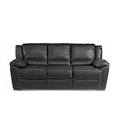 Natuzzi Editions® Genoa Black Leather Large Three Seat Sofa
