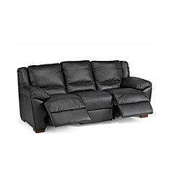 Natuzzi Editions® Genoa Black Leather Reclining Sofa