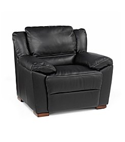 Natuzzi Editions® Black Genoa Leather Armchair