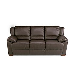 Natuzzi Editions® Genoa Brown Leather Large Three Seat Sofa