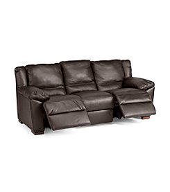 Natuzzi Editions® Genoa Brown Leather Reclining Sofa