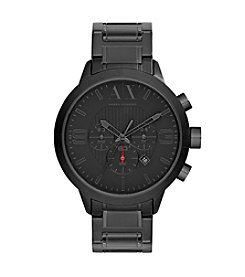 A|X Armani Exchange Men's Stainless Steel Black Bracelet Watch