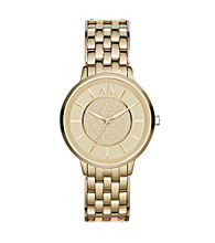 A|X Armani Exchange Women's Stainless Steel and Goldtone Watch