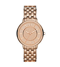 A|X Armani Exchange Women's Stainless Steel and Rose Goldtone Watch