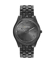 Unlisted by Kenneth Cole® Gunmetal Bracelet Watch