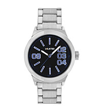 Unlisted by Kenneth Cole® Men's Silvertone Bracelet Watch