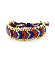 Vince Camuto® Goldtone and Orange Friendship Bracelet