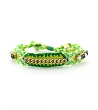 Vince Camuto® Green Multi and Crystal Friendship Bracelet