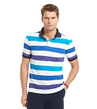 Izod® Men's Short Sleeve Slim Fit Striped Pique Polo