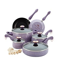 Paula Deen® Signature 15-pc. Lavender Speckle Porcelain Enamel Cookware Set
