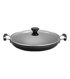 "Circulon® Acclaim 14"" Black Hard-Anodized Covered Paella Pan *"