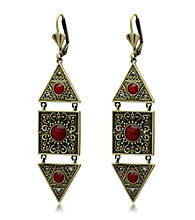 Jill Zarin Morocco Collection Filigree Geometric Drop Earrings
