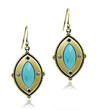 Jill Zarin Morocco Collection Marquis Stone Drop Earrings