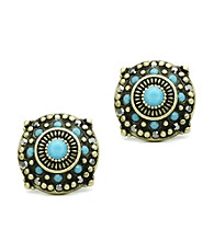 Jill Zarin Morocco Collection Multi Stone Stud Earrings