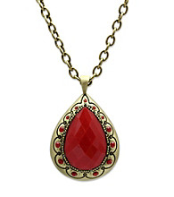 Jill Zarin Morocco Collection Bold Stone Tear Drop Pendant