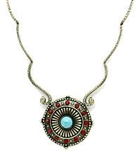 Jill Zarin Morocco Collection Bold Multi Stone Collar Necklace