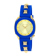 Vince Camuto™ Women's Smooth Blue Silicone Strap Watch