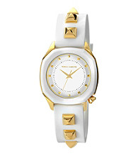 Vince Camuto™ Women's Smooth White Silicone Strap Watch