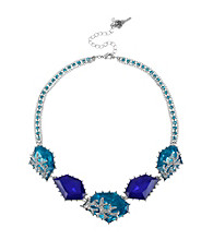 Betsey Johnson® Gem Frontal Necklace