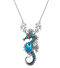 Betsey Johnson® Large Sea Horse Pendant Long Necklace