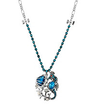 Betsey Johnson® Sea Horse & Sea Shell Pendant Necklace
