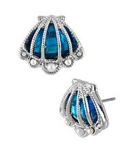 Betsey Johnson® Sea Shell Stud Earrings