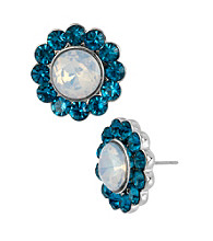 Betsey Johnson® Gem Flower Stud Earrings