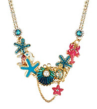 Betsey Johnson® Clam & Starfish Frontal Necklace