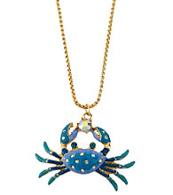 Betsey Johnson® Crab Pendant Necklace