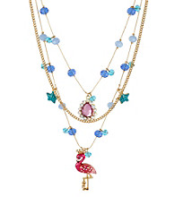 Betsey Johnson® Flamingo Illusion Necklace