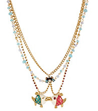 Betsey Johnson® Kissing Fish Pendant Necklace