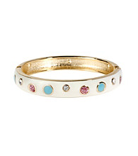 Betsey Johnson® Polka Dot Hinged Bangle Bracelet