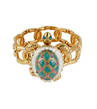 Betsey Johnson® Turtle Stretch Bracelet