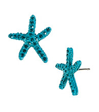 Betsey Johnson® Turquoise Star Fish Stud Earrings