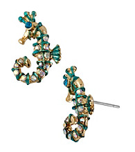 Betsey Johnson® Sea Horse Stud Earrings